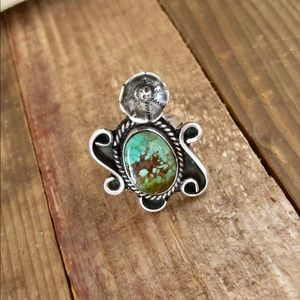 1950's/1960s Navajo Turquoise and Silver Ring